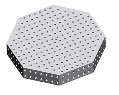 三维柔性八角台
